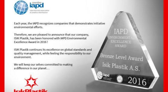 Isik Plastik awarded by IAPD